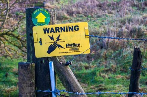 Elec Fence sign